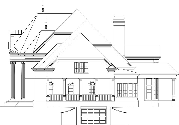 European House Plan 72241 with 5 Beds, 7 Baths, 2 Car Garage Picture 2