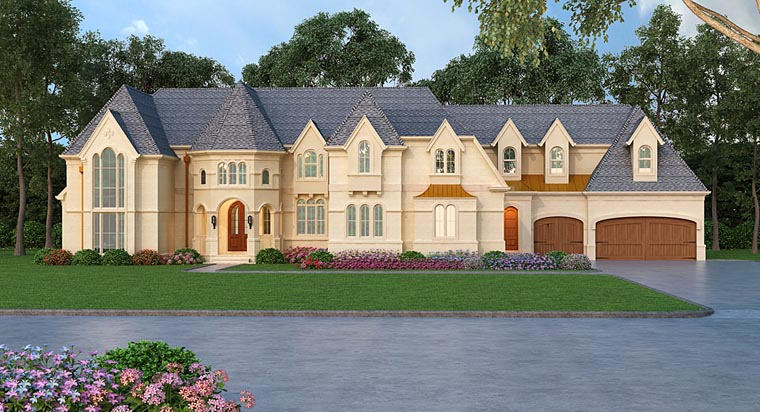 European House Plan 72242 with 4 Beds, 6 Baths, 6 Car Garage Elevation