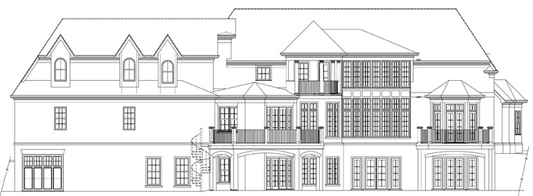 European House Plan 72242 Rear Elevation