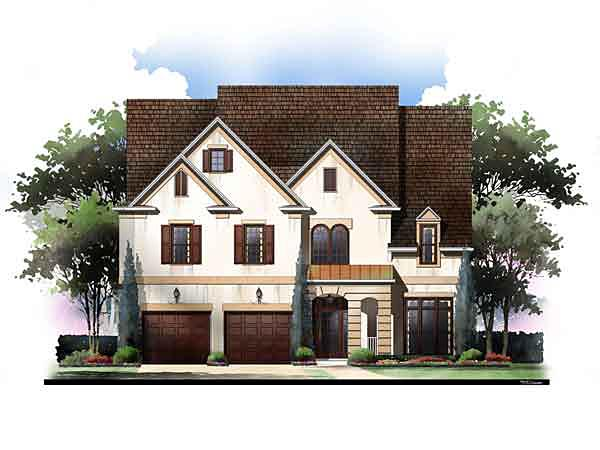 European Southern Traditional House Plan 72243 Elevation