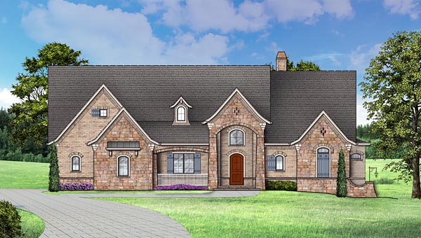 European, Traditional House Plan 72246 with 4 Beds, 4 Baths, 3 Car Garage Picture 9