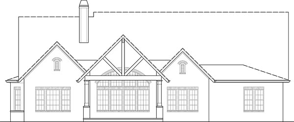 European, Traditional House Plan 72246 with 4 Beds, 4 Baths, 3 Car Garage Rear Elevation