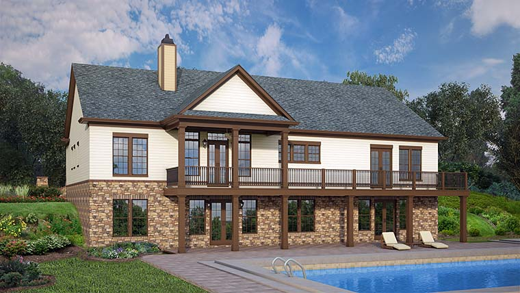 Country Craftsman House Plan 72248 Rear Elevation