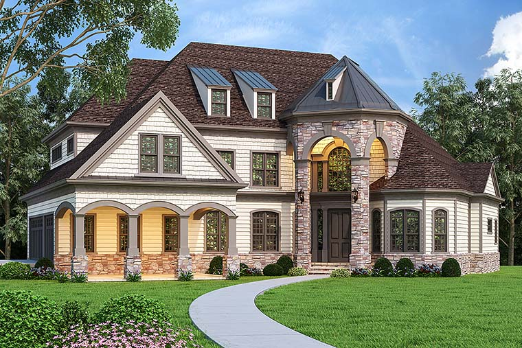 Country, European, French Country House Plan 72249 with 4 Beds, 5 Baths, 3 Car Garage Elevation