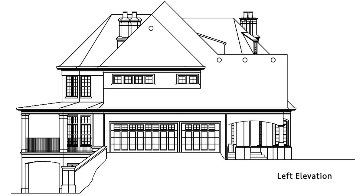 Country, European, French Country House Plan 72249 with 4 Beds, 4 Baths, 3 Car Garage Picture 2