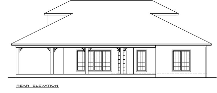 Coastal Southern House Plan 72306 Rear Elevation