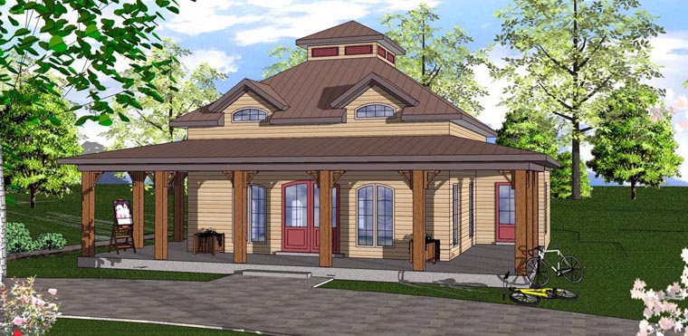 Cottage Florida Southern House Plan 72312 Elevation