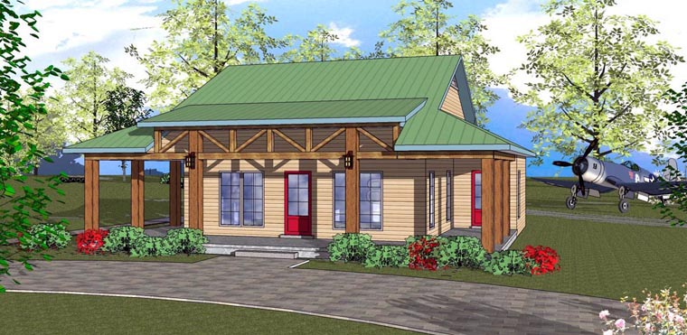 Cottage Florida Southern House Plan 72318 Elevation