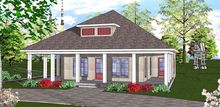 Cottage Florida Southern House Plan 72323 Elevation