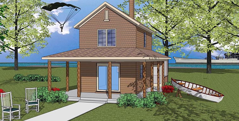 House Plan 72324 | Cabin Cottage Southern Style Plan with 600 Sq Ft, 1 Bedrooms, 1 Bathrooms Elevation