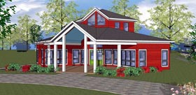 Cabin , Cottage , Southern House Plan 72329 with 2 Beds, 1 Baths Elevation