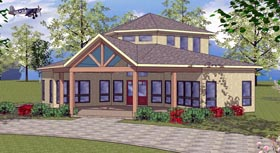 House Plan 72333 | Cabin Cottage Southern Style Plan with 1163 Sq Ft, 2 Bedrooms, 1 Bathrooms Elevation