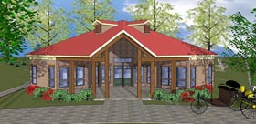Cabin Cottage Southern House Plan 72335 Elevation