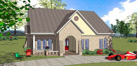 House Plan 72336 Elevation