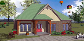 House Plan 72337 with 3 Beds, 2 Baths Elevation