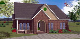 House Plan 72340 with 3 Beds, 2 Baths Elevation
