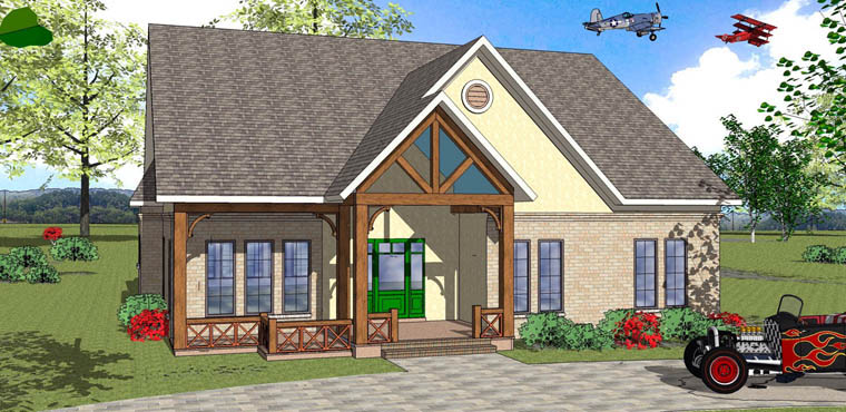 House Plan 72342 Elevation