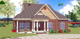House Plan 72343 with 3 Beds, 2 Baths Elevation