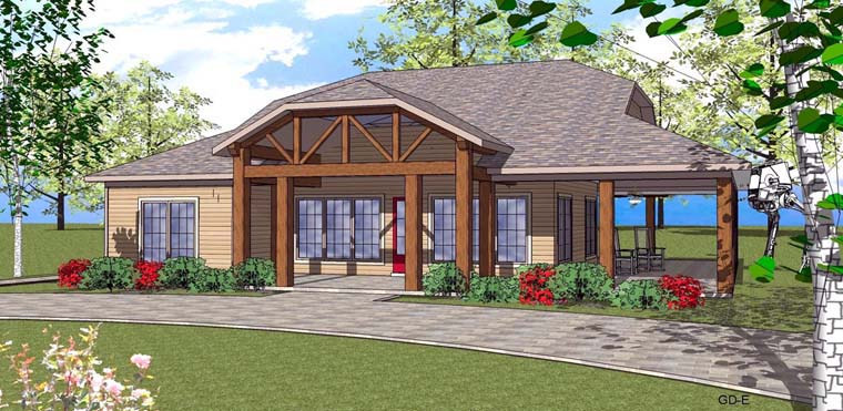 Coastal , Southern House Plan 72353 with 2 Beds, 3 Baths Elevation