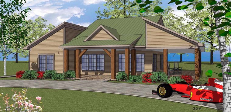 Coastal, Southern House Plan 72354 with 2 Beds, 3 Baths Elevation