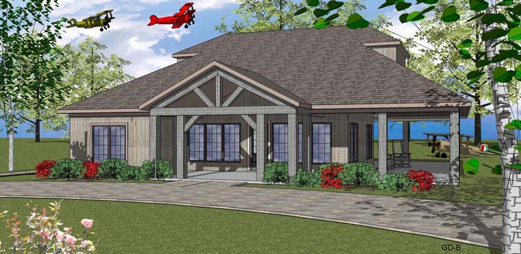Coastal , Southern House Plan 72355 with 2 Beds, 3 Baths Elevation