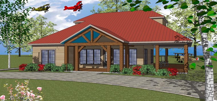 House Plan 72370 | Coastal Southern Style Plan with 1630 Sq Ft, 3 Bedrooms, 3 Bathrooms Elevation