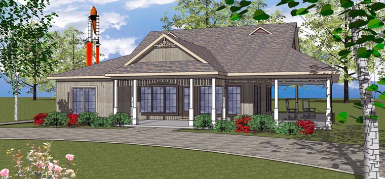 House Plan 72371 with 3 Beds, 3 Baths Elevation