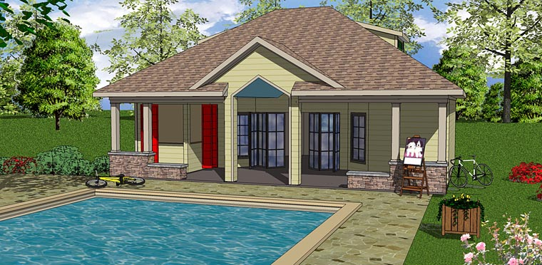 Contemporary Cottage House Plan 72376 Elevation