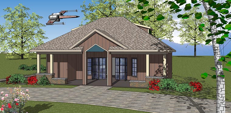 Contemporary, Cottage House Plan 72378 Front Elevation