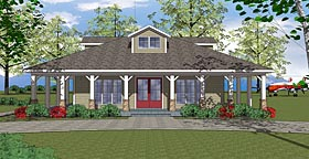 House Plan 72382 | Bungalow Country Southern Style Plan with 2025 Sq Ft, 3 Bedrooms, 2 Bathrooms Elevation