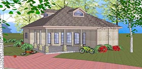 House Plan 72384 | Coastal Southern Style Plan with 1087 Sq Ft, 3 Bed, 2 Bath Elevation