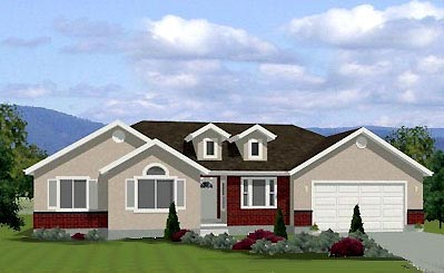 Ranch House Plan 72410 with 6 Beds, 3 Baths, 3 Car Garage Elevation