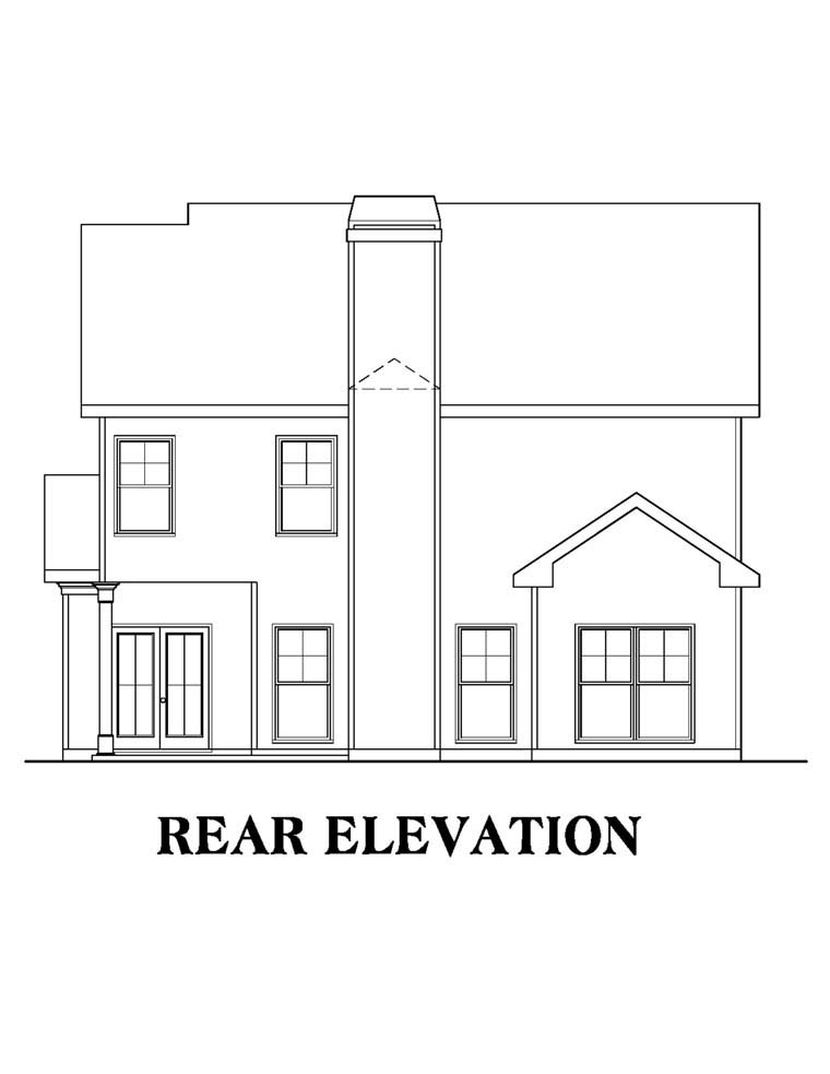 House Plan 72501 Rear Elevation