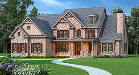 House Plan 72503 | Style Plan with 4139 Sq Ft, 5 Bedrooms, 5 Bathrooms, 3 Car Garage Elevation