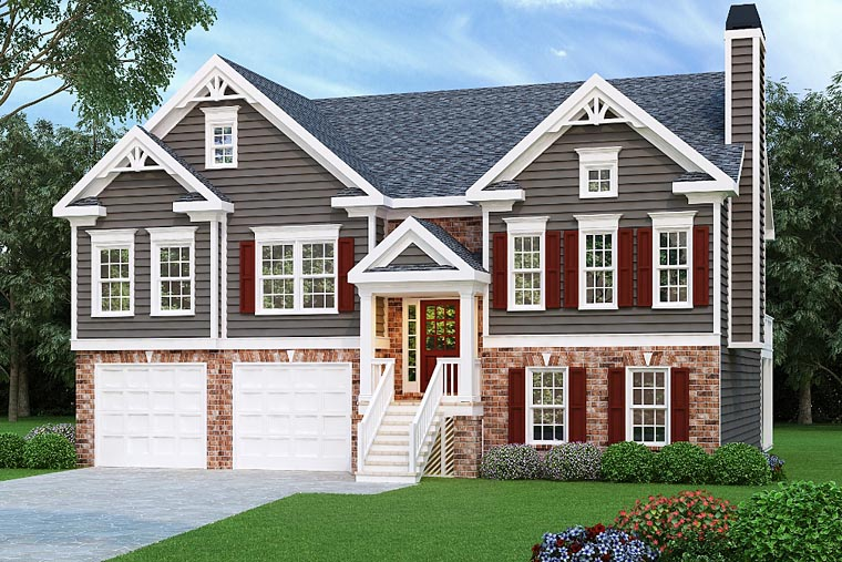 House Plan 72505 with 3 Beds, 2 Baths, 2 Car Garage Elevation