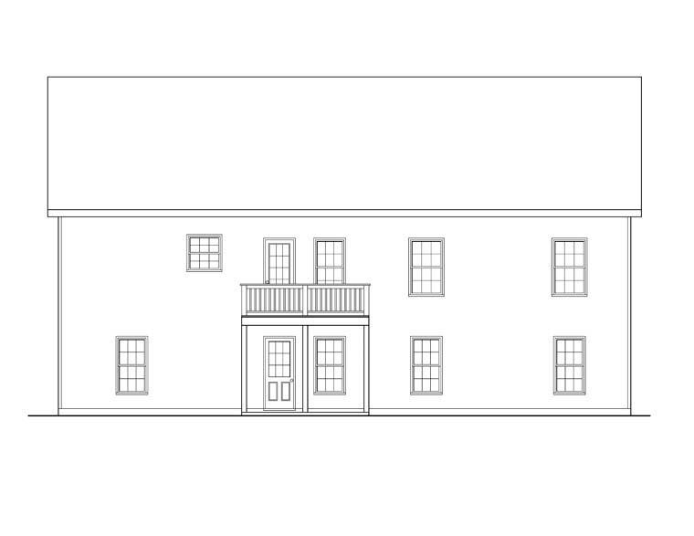 Ranch House Plan 72506 Rear Elevation