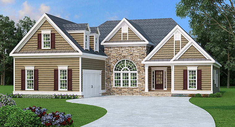 Ranch House Plan 72507 Elevation