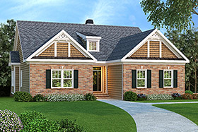 House Plan 72508 | Ranch Style Plan with 1861 Sq Ft, 3 Bedrooms, 2 Bathrooms, 2 Car Garage Elevation