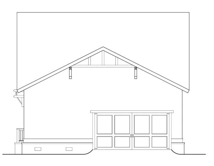 House Plan 72511 Rear Elevation