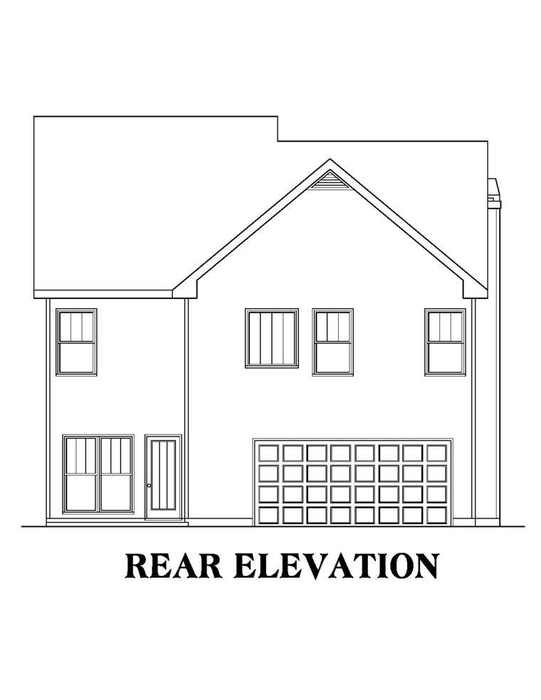 House Plan 72512 Rear Elevation