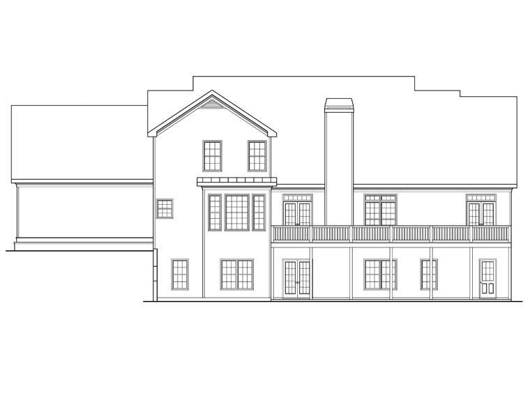 House Plan 72513 Rear Elevation