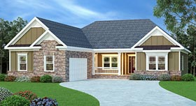House Plan 72514 | Ranch Style House Plan with 2149 Sq Ft, 4 Bed, 2 Bath, 2 Car Garage Elevation