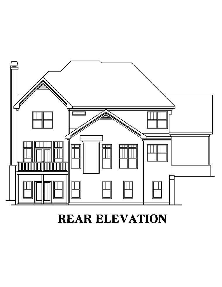 House Plan 72516 Rear Elevation