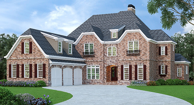 House Plan 72519 with 4 Beds, 5 Baths, 3 Car Garage Elevation