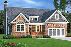 Ranch House Plan 72520 Elevation