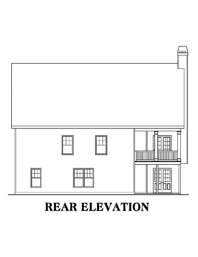 Ranch House Plan 72520 Rear Elevation