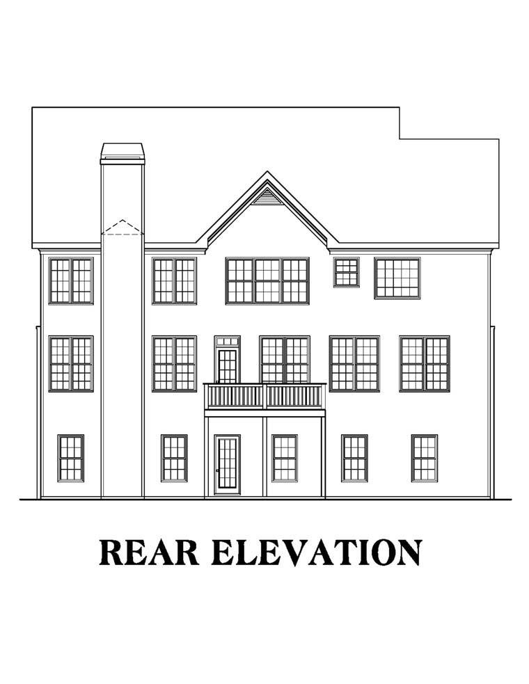 House Plan 72521 Rear Elevation