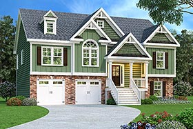 House Plan 72524 with 3 Beds, 3 Baths, 2 Car Garage Elevation