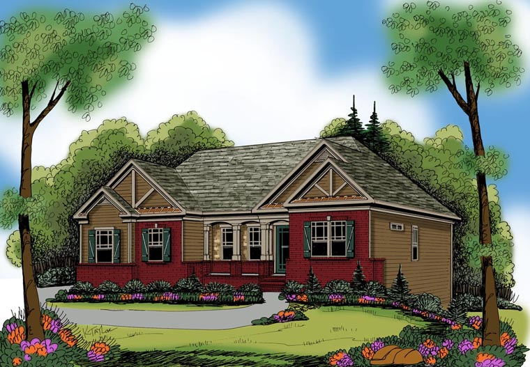 Ranch House Plan 72526 Elevation