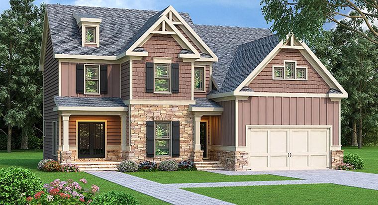 House Plan 72527 Elevation